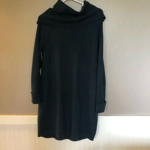 Vince Camuto sweater dress cowneck hunter green